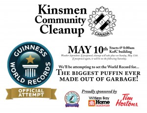 Facebook-friendly JPEG version of the Kinsmen Community Cleanup poster