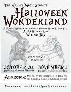 Halloween Wonderland - A Food Drive in the form of a haunted house and folk play