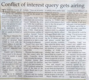 """Conflict of interest query gets airing"""