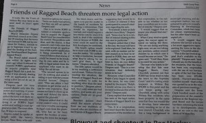 Friends of Ragged Beach threaten more legal action