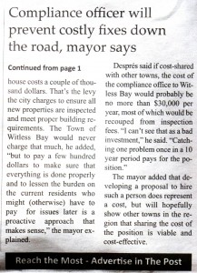 Mayor says Compliance Officer position will prevent costly fixes down the road