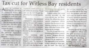 Tax cut for Witless Bay residents