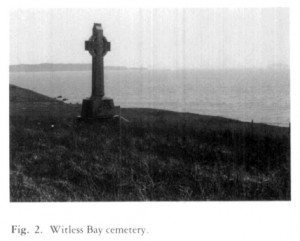 The old Witless Bay cemetery on Harbour Road