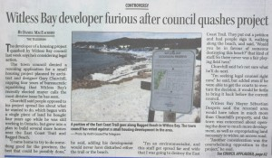 Witless Bay Developer Furious