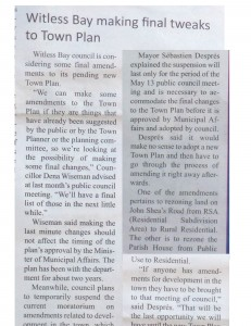"""Witless Bay making final tweaks to Town Plan"""